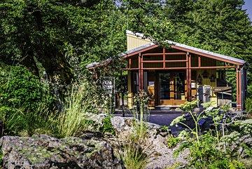 Chalet d'accueil du Jardin du Chitelet © P.-F. Valck